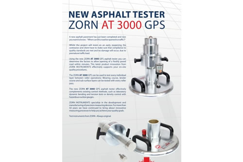 Zorn AT 3000 GPS Light Weight Deflectometer for Asphalt Testing
